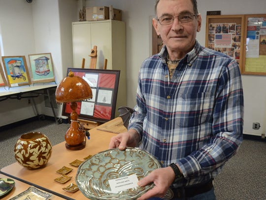 Gerald Ross entered his pottery at the Battle Creek Veterans Affairs Medical Center.