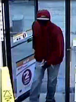 Lafayette police released this photo of Saturday morning's robbery suspect who held up the Circle K gas station at Earl Avenue and Ferry Street.