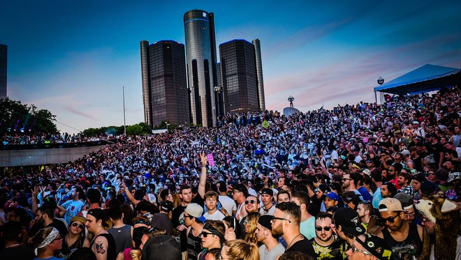 Memorial Day weekend's Movement Electronic music festival came to a roaring close as Hart Plaza was alive with music, sights and sounds Monday May 25, 2015.