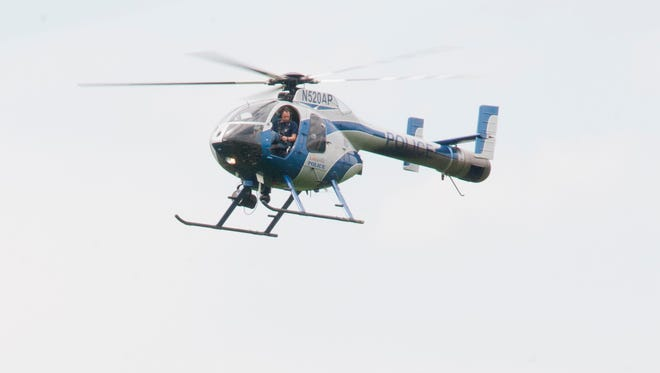 A Louisville Metro Police helicopter.18 July, 2016