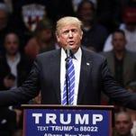 Republican presidential candidate Donald Trump speaks in Albany, N.Y., April 11.