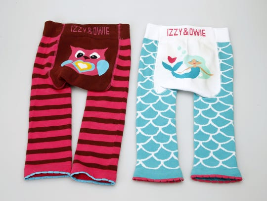 Children's leggings by Izzy and Owie.