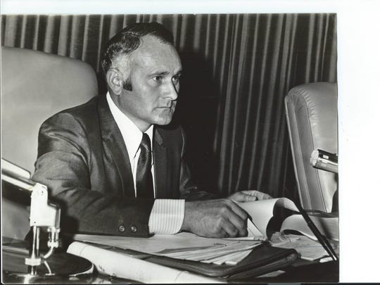 Warren Church at work as a Monterey County Board of