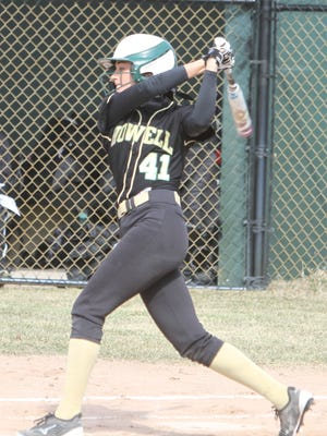 AJ Militello of Howell hit three home runs in a doubleheader split with Northville.