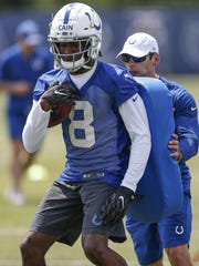 Colts rookie wide receiver Deon Cain (8) has impressed