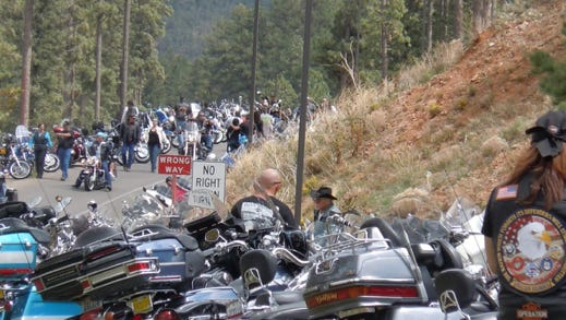 "The annual Golden Aspen Motorcycle Rally opens at 1 p.m. Wednesday. The Ruidoso Valley Chamber of Commerce along with rally organizers, are co-sponsoring ""Welcome Bikers"" night from 5 to 7 p.m. Wednesday. The event features free food provided by local restaurants and free admission to the trade show."