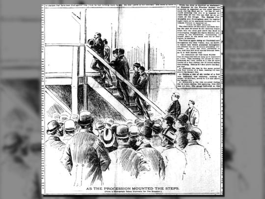 An illustration that appeared in the Enquirer in 1897