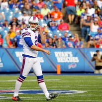 Bills kicker Dan Carpenter (2) had four field goals in a 26-10 win over Cleveland last year.