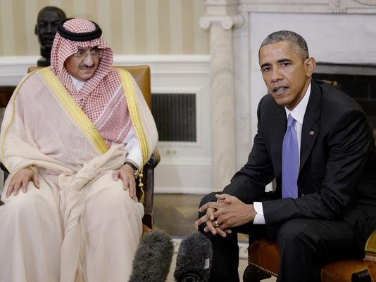 Saudi Crown Prince Prince Mohammed Bin Nayef Meets With Obama At The White House