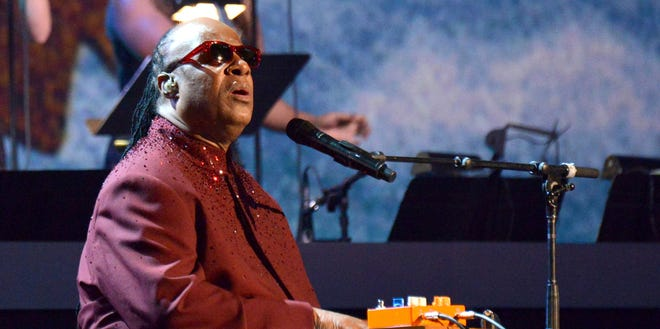 """Stevie Wonder performs in January during """"The Night That Changed America: A GRAMMY Salute To The Beatles"""" in Los Angeles."""