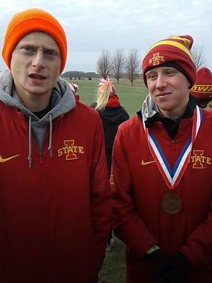 Iowa State's Dan Curts, left, and Andrew Jordan