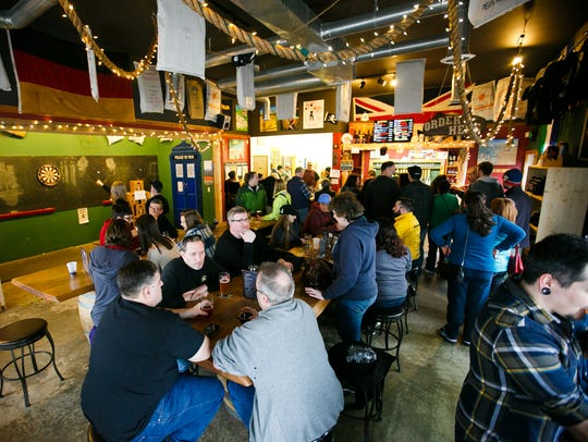 Santiam Brewing was packed for Zwickelmania on Saturday,