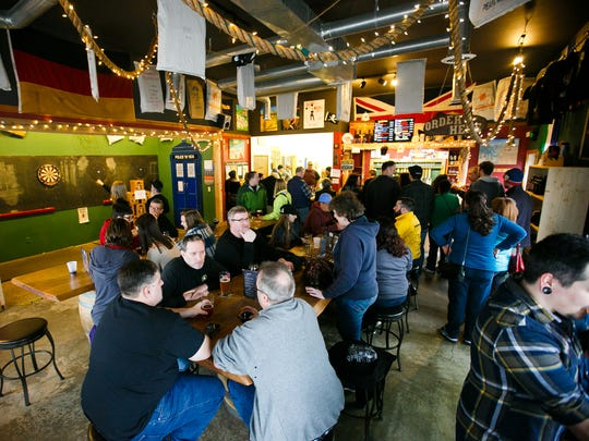 Santiam Brewing was packed for Zwickelmania on Saturday, Feb. 13, 2016.