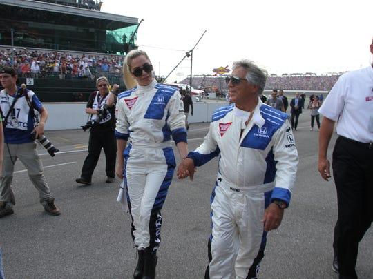Singer and actress Lady Gaga and former driver Mario