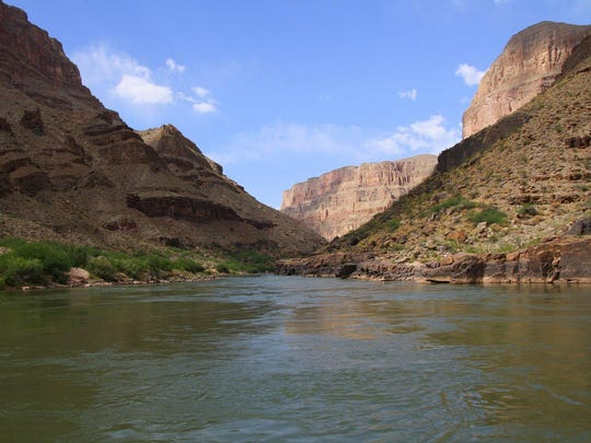 A look at the Grand Canyon as seen from the Colorado River.