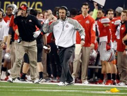 Ohio State coach Urban Meyer won a national recruiting battle for halfback Kareem Walker, who committed Monday night.(Photo: AP)