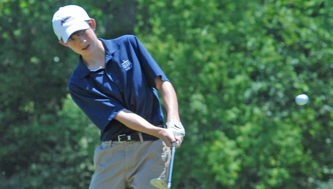 St. Thomas More's Drew Gonzales shot a 76 on Monday in the Division I state tournament.