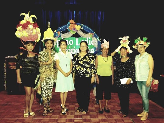 Easter hat contest: Filipino Ladies Association of Guam held their post-Easter Sunday celebration April 2 at the Pandanus Room, Guam Reef Hotel. Winners of the Easter Hat contest are Shirley Trinidad, Most Original; Lynda Tolan, Most Creative; judges artist Yeon Sook Park and art school teacher Gloria Obias; Sabina Tamondong, Craziest; Nenita Magallanes, Most Symbolic and Jennifer Palacios, Most Beautiful.