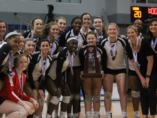 The Leon Lions volleyball team finished a 27-4 season