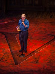 Utah Shakespeare Festival founder Fred C. Adams speaks