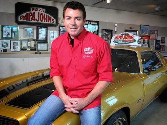 John Schnatter at Papa John's headquarters, which has a replica of the beloved Camaro he once sold but later bought