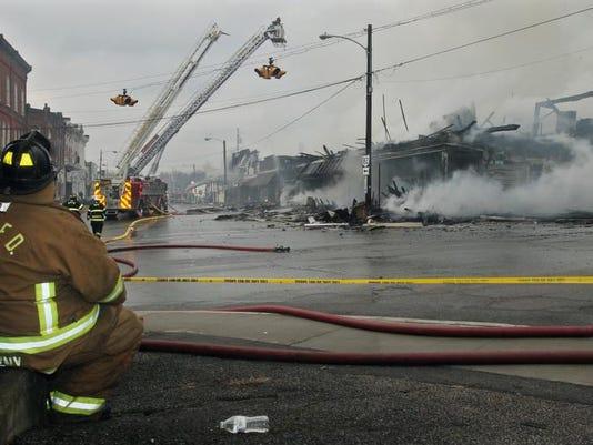 Downtown Fire Ohio Village