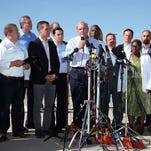 U.S. Conference of Mayors protest outside Tornillo Port of Entry