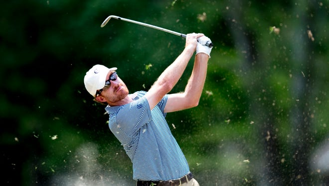 Roberto Castro swings during the Calhoun's Classic Pro-Am on Wednesday at Fox Den Country Club in Farragut.