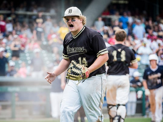 Daleville's Peyton Smith reacts during the game against