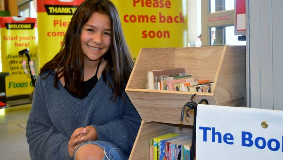 Annaileen de Santigo is an eighth-grade student at Live Oak Middle School in Tulare. She created the Book Bin for students in her town to enjoy.