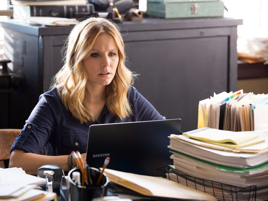 "Kristen Bell as Veronica Mars in a scene from the motion picture ""Veronica Mars."""