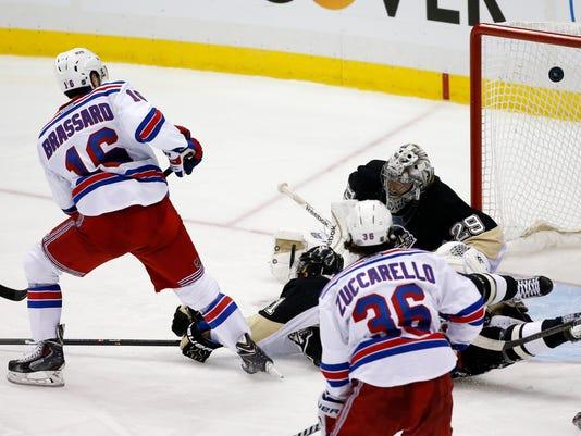Rangers Penguins Game 1 2014 playoffs OT winner