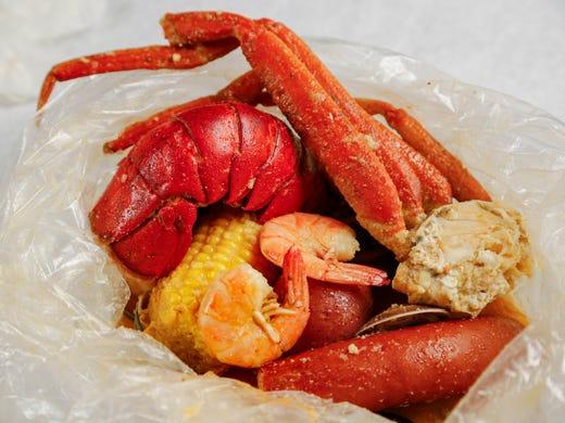 Lobster Clams Muscles Crab Corn Kielbasa Shrimp