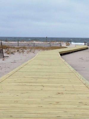 The Fisherman's Walkway on Island Beach State Park.