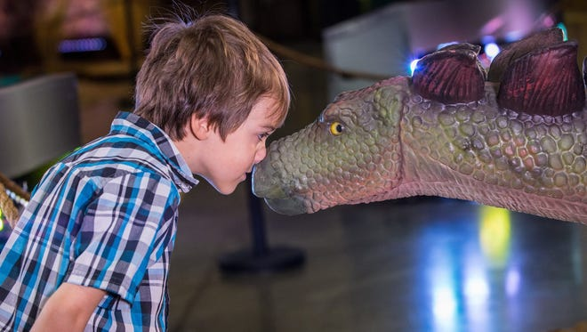 """Families can enjoy New Year's Eve at """"Dinosaur Time Trek"""" at the New Jersey Convention and Exposition Center in Edison, as well as Dec. 30 and Jan. 1."""