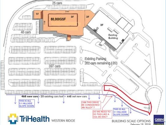 The site plan for an expansion at Good Samaritan Western