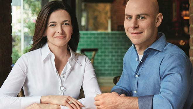 Sheryl Sandberg and co-author Adam Grant.