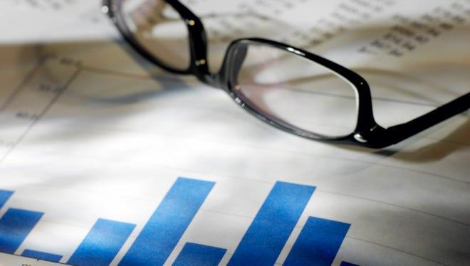 Financial data and eyeglasses