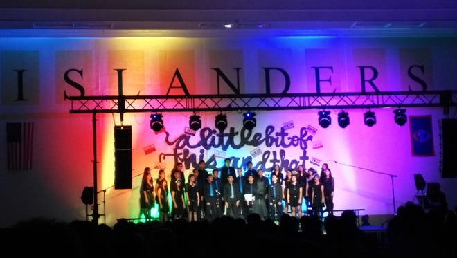 John F. Kennedy High School's Vivace held its annual spring concert on April 22 and 23, singing a variety of songs from different musical decades. Courtesy of Janna Malig-on