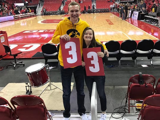 Owen Skahill, left, and girlfriend Kelsey Holland are
