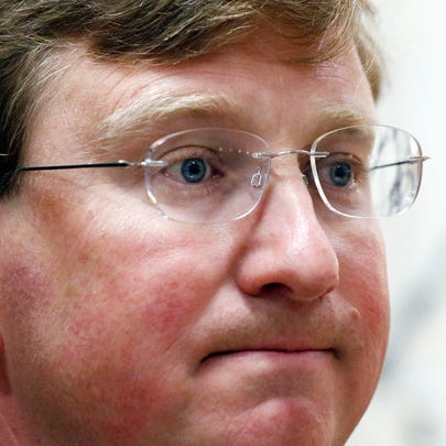 Lt. Gov. Tate Reeves ponders a reporter's question