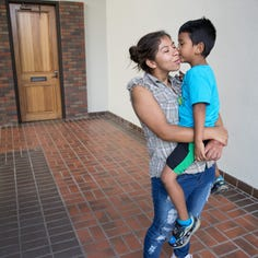 Immigrant mother and son reunited in Corpus Christi after months apart