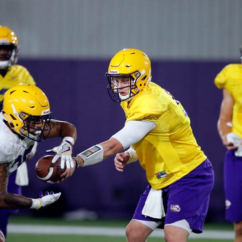 Burrow and Brennan got all the snaps at a scrimmage Saturday, but they may need many more