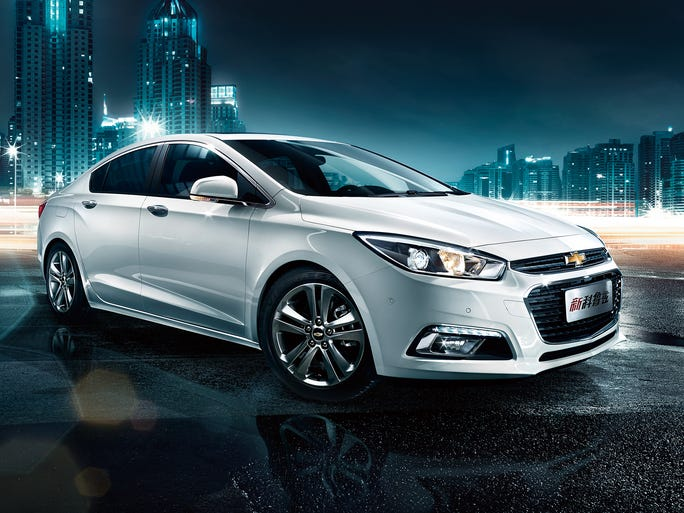 Redesigned Chevrolet Cruze launched this month in China as a 2015 model and coming to the U.S. in about a year.