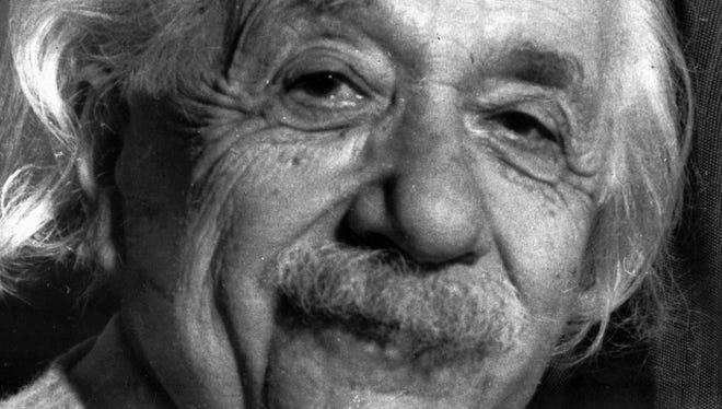 Albert Einstein in a 1955 file photo.