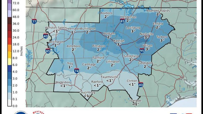 Map Of 2020 Randolph County Christmas Tour Of Homes Chance for snowfall in Randolph County