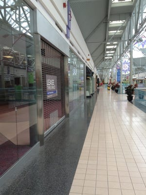 In 2015, the York Galleria in Springettsbury Township featured 13 empty storefronts, which accounted for more than 12 percent of the mall's non-food court spaces. (Photo by David Weissman/ The York Dispatch)