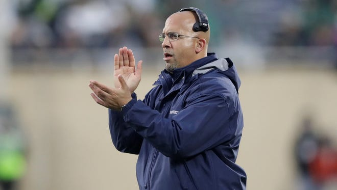 Head coach James Franklin has led Penn State to back-to-back Lambert Trophy honors. The award goes to the top college football program in the East. AP FILE PHOTO