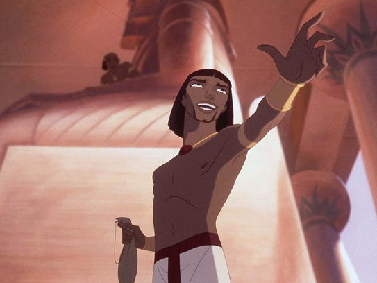 Moses, as depicted in the animated feature ``The Prince