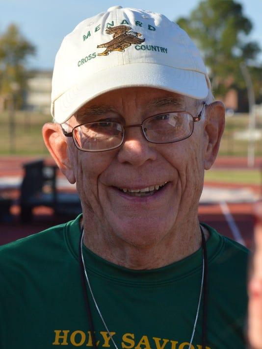ANI LHSAA Cross Country Meet Menard's coach Wally Smith at the LHSAA Cross Country Meet at NSU in Natchitoches Monday, Nov. 18, 2013.-Melinda Martinez/mmartinez@thetowntalk.com